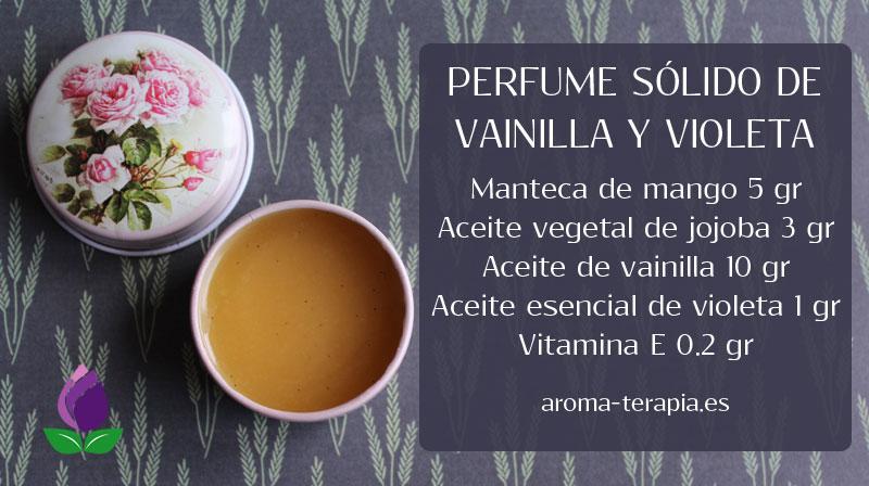 receta perfume sólido casero